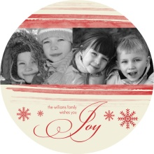 Watercolor Holiday Photo Card
