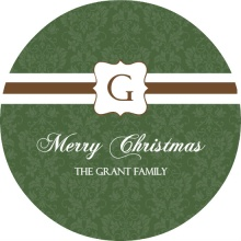 Monogram Custom Christmas Card