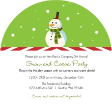 Snowman Circle  Holiday Party Invite