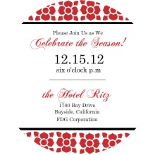 Poinsetta Pattern Business Holiday Party Invite