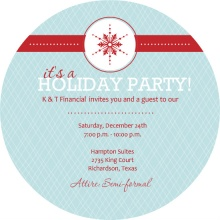 Ice Blue Circle Business Holiday Party Invite