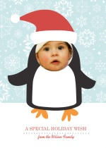 Penguin Winter Photo Cut Out Holiday Card
