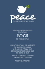 Blue Peace Christmas Card