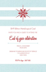 Red Snowflake Business Holiday Party Invitation