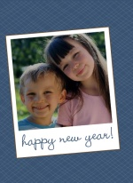 Picture Perfect Blue New Years Photo Card