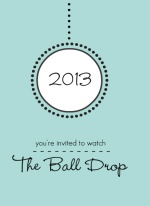 New Years Ball New Years Invitation