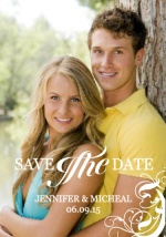 White Swirl formal Save the Date