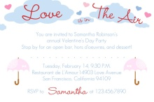 Pastel Valentine's Day  Invitation