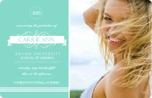 Elegant Blue  Graduation Announcement