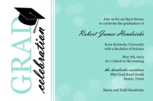 Turquoise Bubbles  Graduation Party Invitation