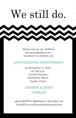 We Still Do Black and White Anniversary Invite