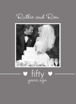 Simple Gray Photo Anniversary Invite