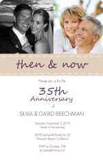 Casual Purple and White Wedding Anniversary Party Invitation