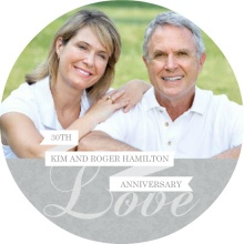 Silver Celebration Anniversary Invitation