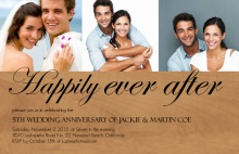 Wood Grain Formal Wedding Anniversary Party Invitation