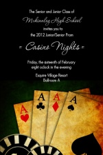 Poker Night Prom Casino Party Invitation