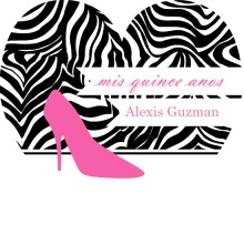 Fiesty Zebra and Pink Quinceanera Invitation