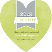 Green Canvas Graduation Invitation