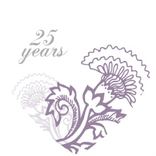Soft Purple Floral 25th Anniversary Invitation