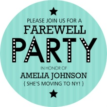 Going Away Party Invitation Templates