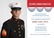 Patriotic Banner Military Send Off Party Invite