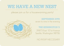 We have a new nest! Housewarming Invite