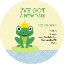 Frog Housewarming Party Invitation