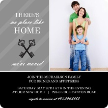 Black and Gray Elegant Keys Housewarming Invitation
