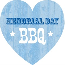 Blue Wood Texture Memorial Day Invitation