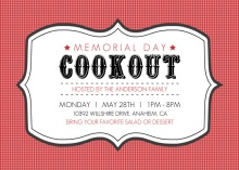 Frame Black and Red Memorial Day Invitation