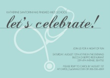 Elegant Turquoise Med School Grad Invite