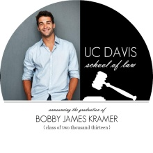 Graduation  Announcement White Gavel