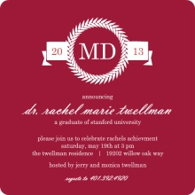 Graduation Announcement Maroon MD