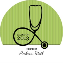 Grad Announcement Doctor Stethoscope 