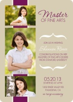 Modern Graduation Invitation Photo Ribbon