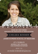 Heartbeat Photo Graduation Invitation
