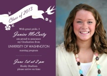 Purple Graduation Announcement