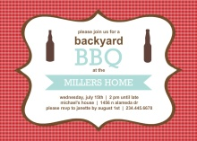 Checkered Backyard BBQ Party Invite