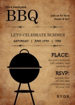 Rustic Backyard BBQ Invite
