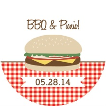 Brown and Red Picnic BBQ Invitation