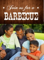 Rustic Wood Family BBQ Invitation