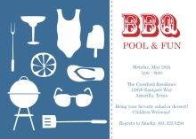 Modern Summer Icons BBQ Invitation