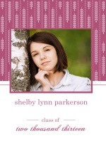 Graduation Invitation Pink and White Willows