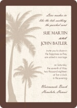 Textured Tropical Palm Tree Wedding Invite