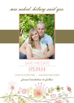 Spring Floral Border Save The Date