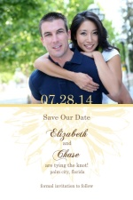 Simple Sunflower Brown and Yellow  Save The Date