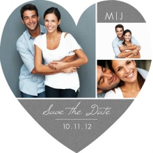 Gray and Burlap Save The Date