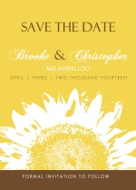 Bright Sunflower Save The Date