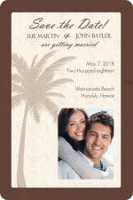Textured Tropical Palm Tree Wedding Save the Date