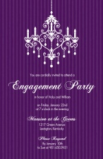 Elegant Chandelier Engagement Party Invite